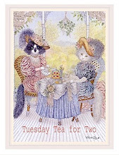 Tuesday Tea For Two ~ weekly blog tea party @ The Plumed Pen blog..,