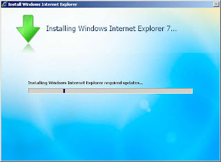 Installing Windows IE7