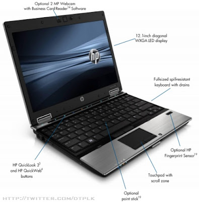 HP EliteBook 2540p Notebook (Credit: HP)