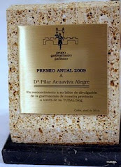 Premio Anual 2009.Grupo Gastronómico Gaditano