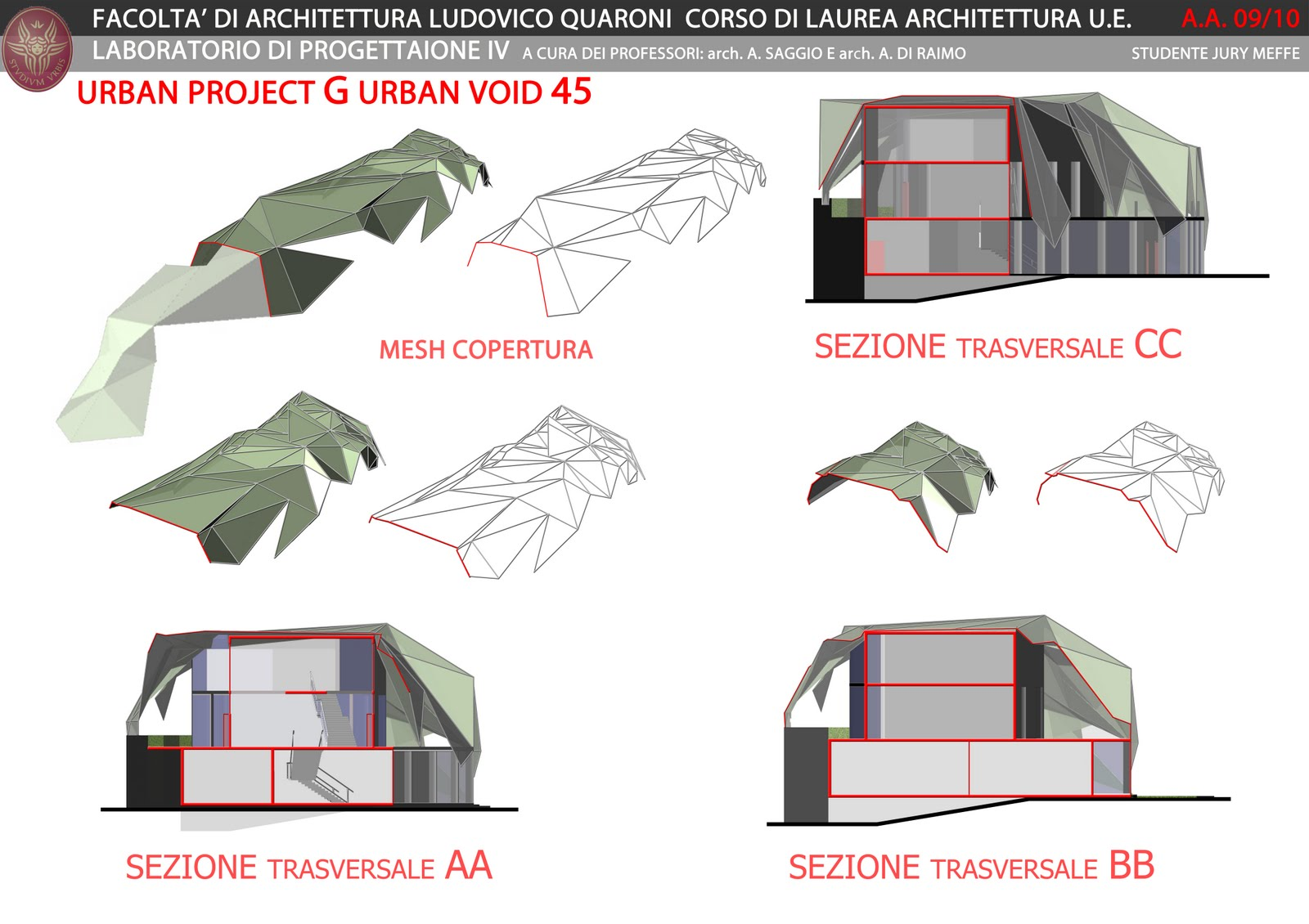 Jury meffe laboratorio di progettazione architettonica iv for Piani di progettazione architettonica