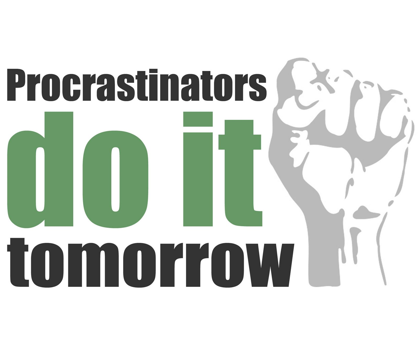 alamode Stuff: Hello, I'm a procrastinator