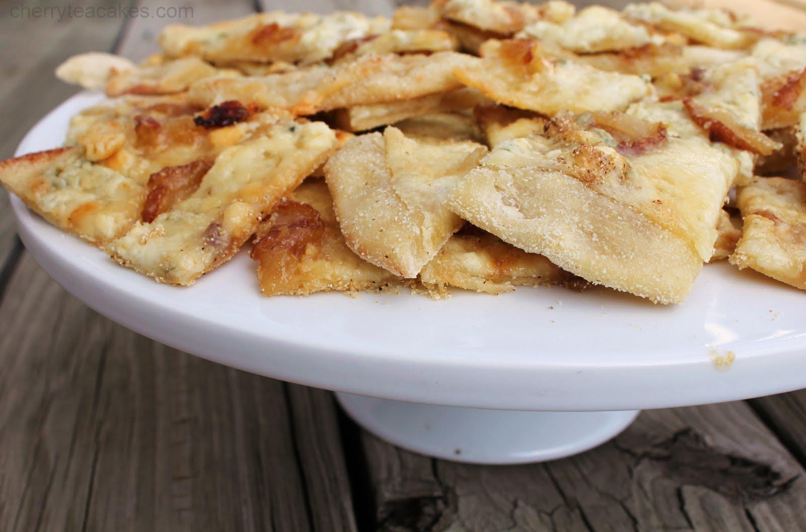 Cherry Tea Cakes: Caramelized Pear and Gorgonzola Pizza