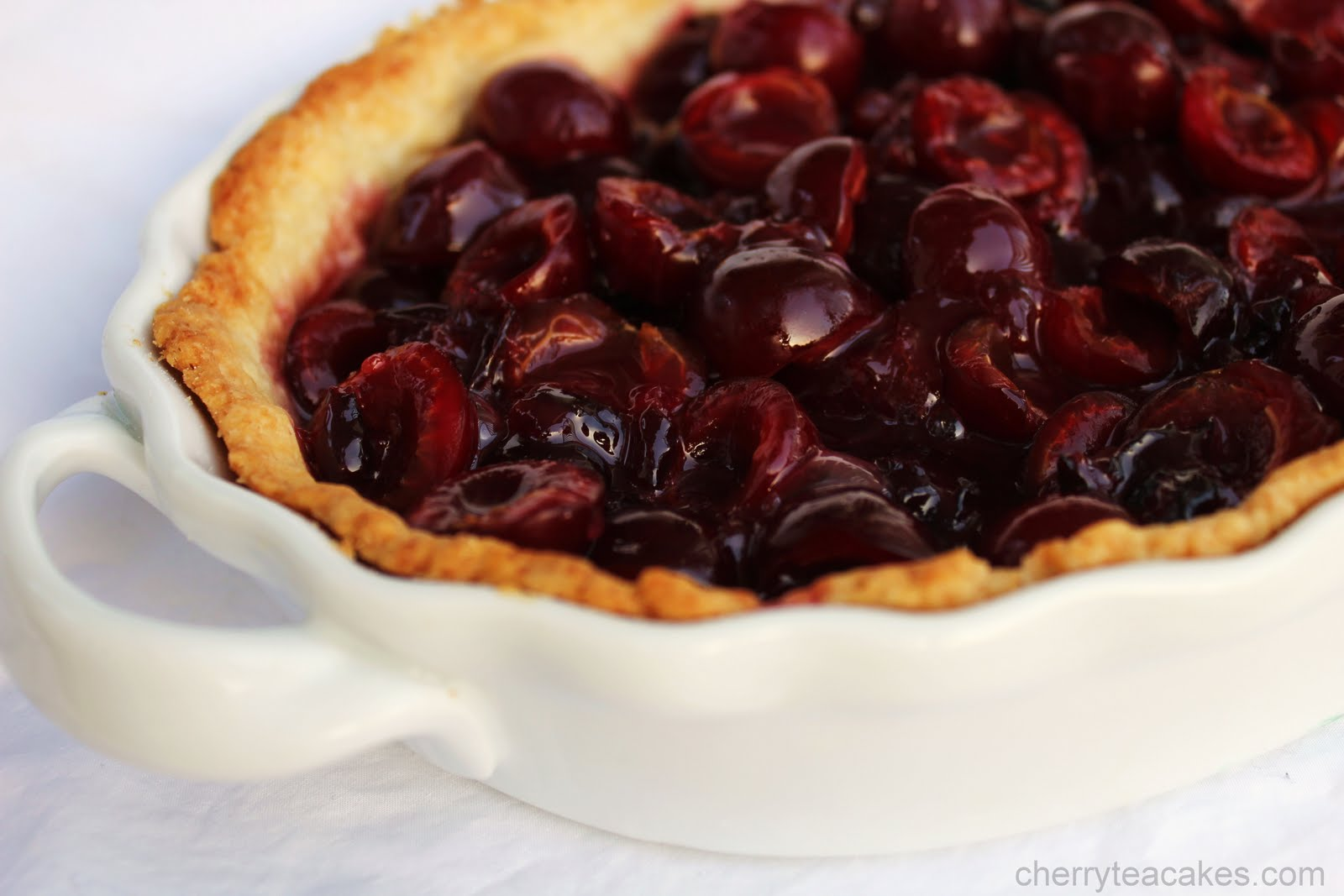 Cherry Tea Cakes: No Bake Cherry Pie with Buttermilk Pie Crust
