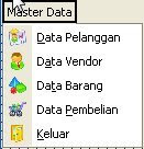 application menu structure