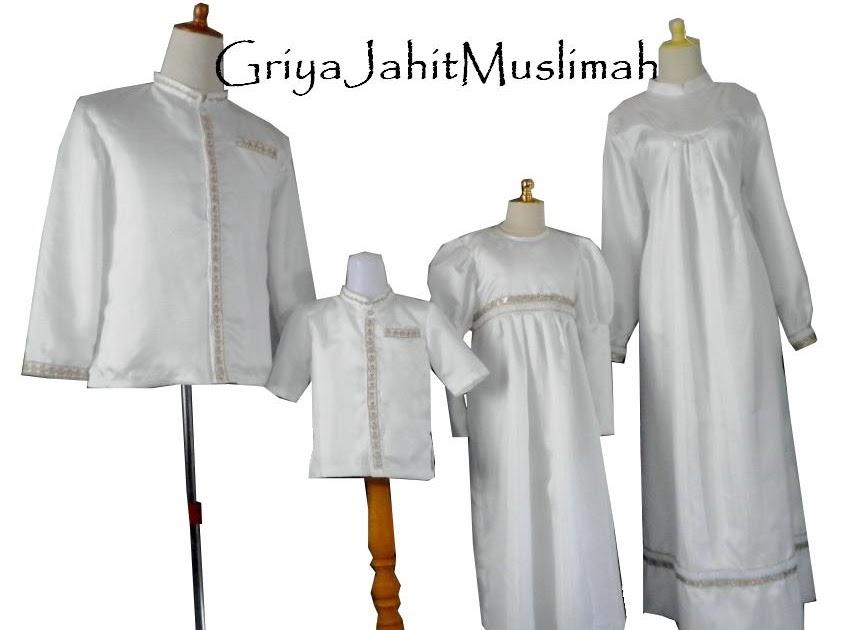 Griya Jahit Muslimah Sarimbit Putih Keluarga