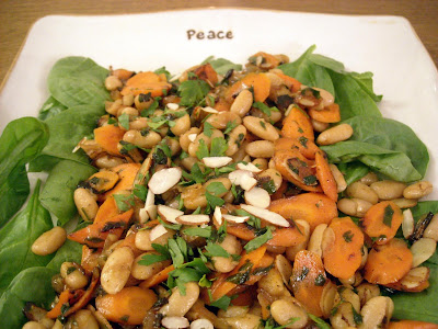 ... Wine and Dine Daringly: Friday Night Light: Carrot & White Bean Salad