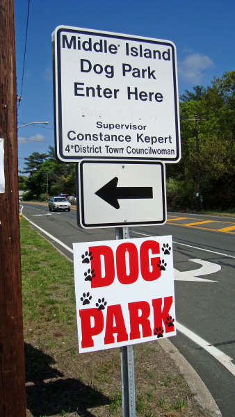 Dog Park Sign ~ Can you find the automobile in this picture?? Read below.