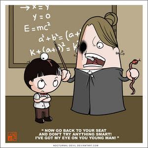 Guru dikerjain Muridnya