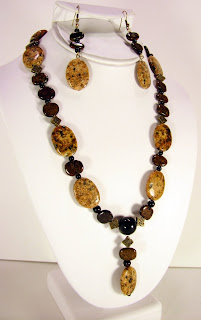 brown sesame jasper with bronzite