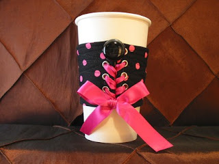 coffee corset Jenngee.etsy.com pink and black
