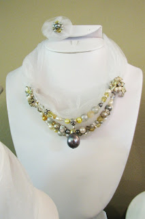 custom order wedding and bridal jewelry at laurastaley.etsy.com earrings to match bridesmaids necklace sets