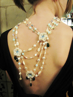 blue opal bridal and bridesmaid jewelry by laurastaley