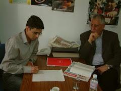 مع ثامر العبادي امين عام حزب الاصلاح العراقي