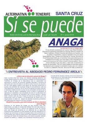 Primer Boletín del Comité de Santa Cruz. ANAGA