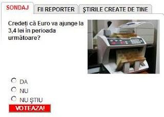 sondaj pe Mediafax curs euro mdro.blogspot.com