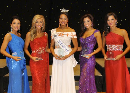 The Top Five at Miss Arkansas 2010. What an experience Miss Arkansas was