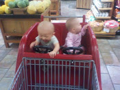 First shopping cart ride