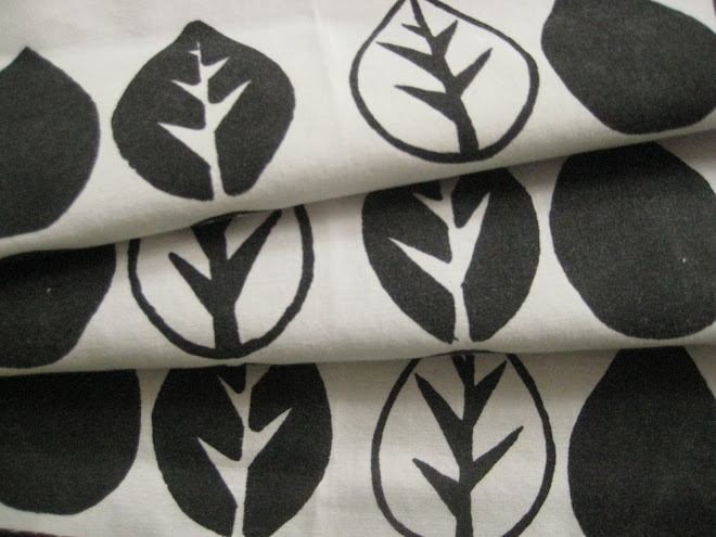 Anatomy of a Leaf Handprinted Fabric