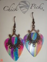 Check out my friend's website - she sells earings made of guitar picks
