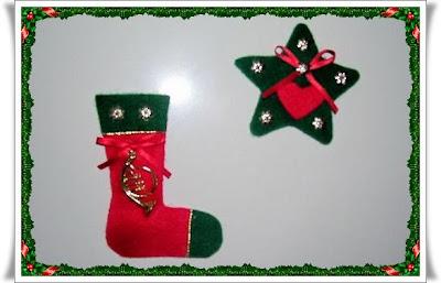 Adornos de navidad en tela recrear manualidades arte - Adornos de navidad de tela ...