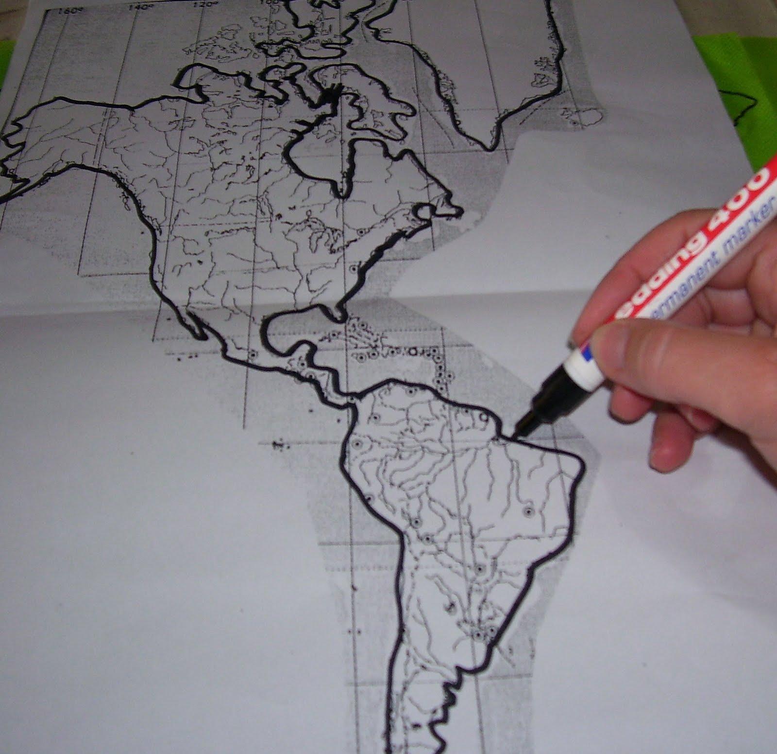 Sobre el mapa ubicar la friselina verde y marcar el contorno negro con