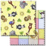 Bazooples patchwork fabric