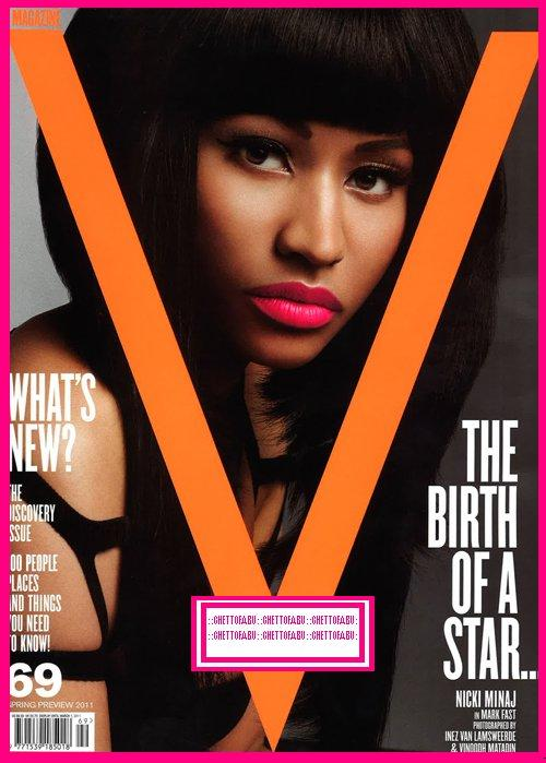 lil wayne magazine cover 2011. Nicki Minaj V Magazine Cover