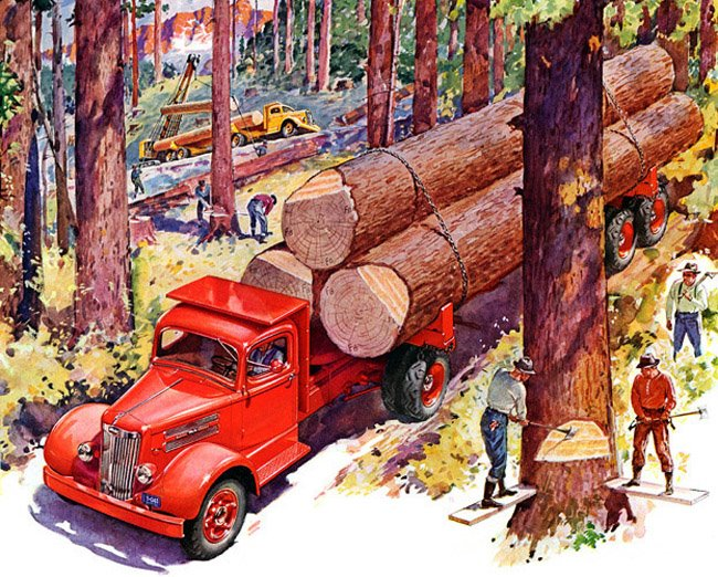 1942  Whilte Log Truck