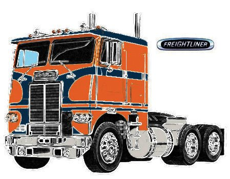 White Freightliner Dual Drive