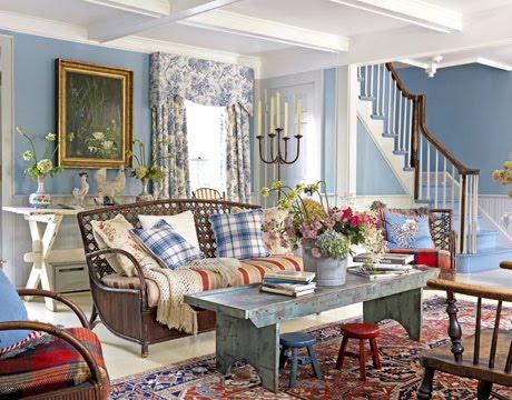 Ev dekorasyonu i in ilham veren fikirler iftlik evi for Country cottage living room paint colors
