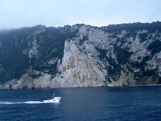 The fierce cliffs of Capri