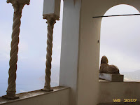 The sphinx watching over Marina Grande