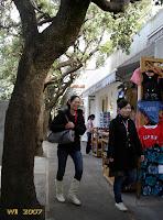 Tourists on Via Capodimonte