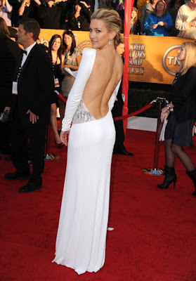 Long White Dress on Nick Verreos  Sag Awards Red Carpet