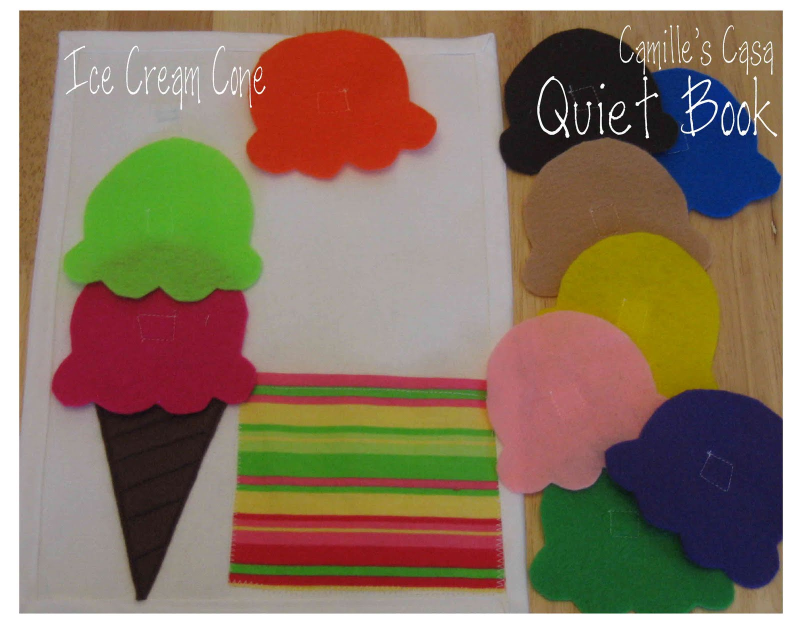 Camilles casa quiet book pattern and printable ice cream quiet book pattern and printable ice cream maxwellsz