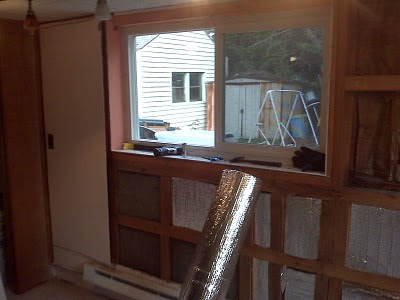 wall insulation and window