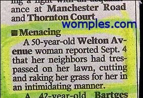 really funny police rounds stories news grass cutting woman complaint