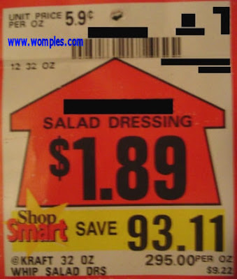 really weird ads small saving on salad dressing
