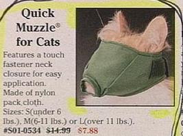really funny ad for cat muzzle photo weird