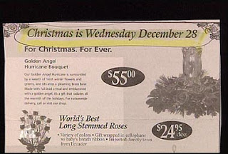 funny ad for christmas on wrong date december 28 not 25<br />