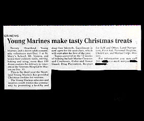 funny stupid news headline young marines make tasty christmas treats