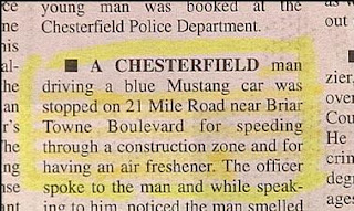 funny stupid news stories police stop man for speeding and having an air freshener in car