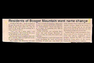 funny headline booger mountain residents want a change of name for their town photo