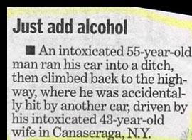 really funny news story about drunk driver crash then hot by his wife also drunk