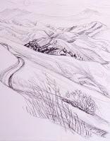 Otis Landscape Drawing: Rolling Hills & Desert Domes. When ...