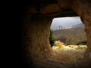 an empty tomb the stone rolled away huge and heavy yet rolled away by ...