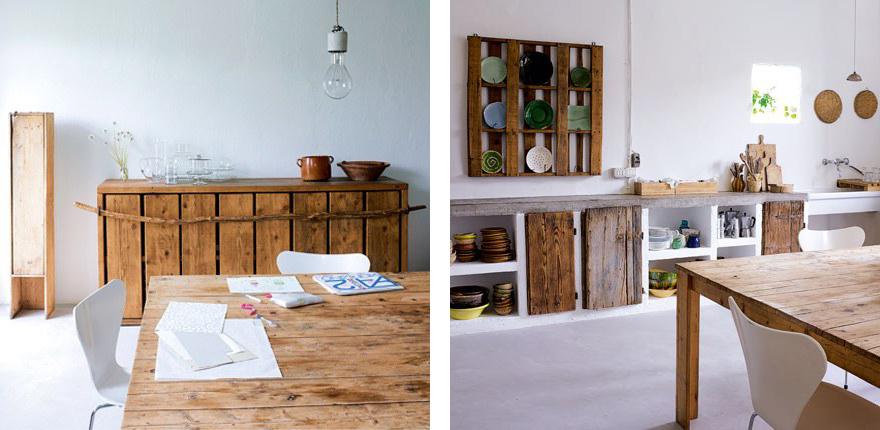 Dimore di carattere shabby chic interiors - Mobili con legno di recupero ...