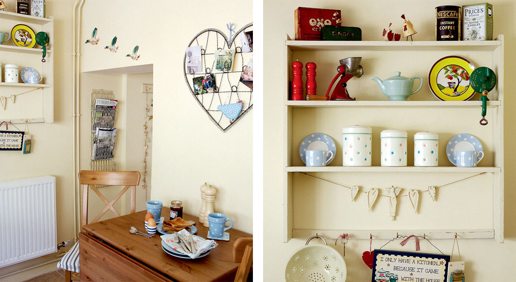 In cucina shabby chic interiors - Cucina chic pentole ...