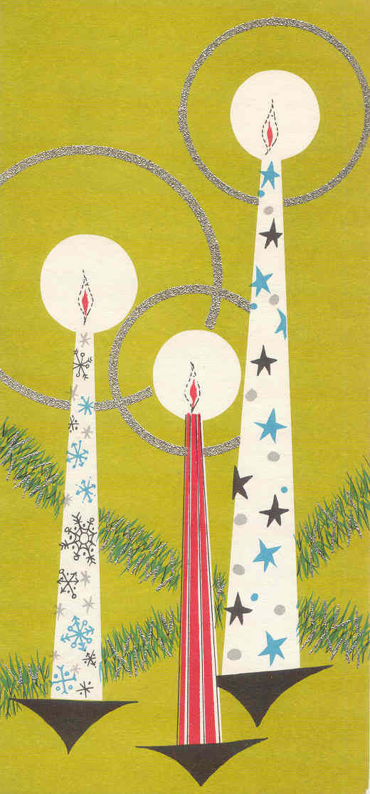 gold country girls: Vintage Christmas Cards - The Ones With The Candles